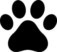 1256 Dog Paw free clipart.