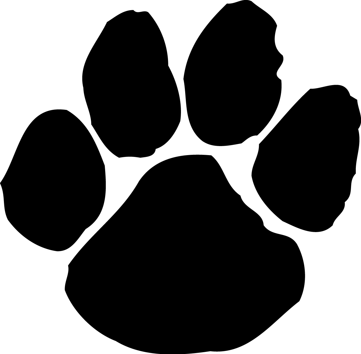 Paw Print Tattoos On Dog Prints Scroll Clipart Transparent Png.
