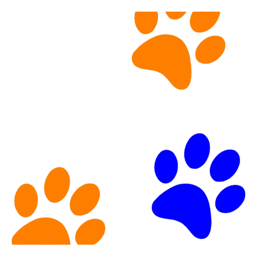 Paw Print Orange Clip Art Clipart At Getdrawings Dog Prints.