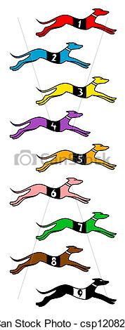 Vector of Dog race.