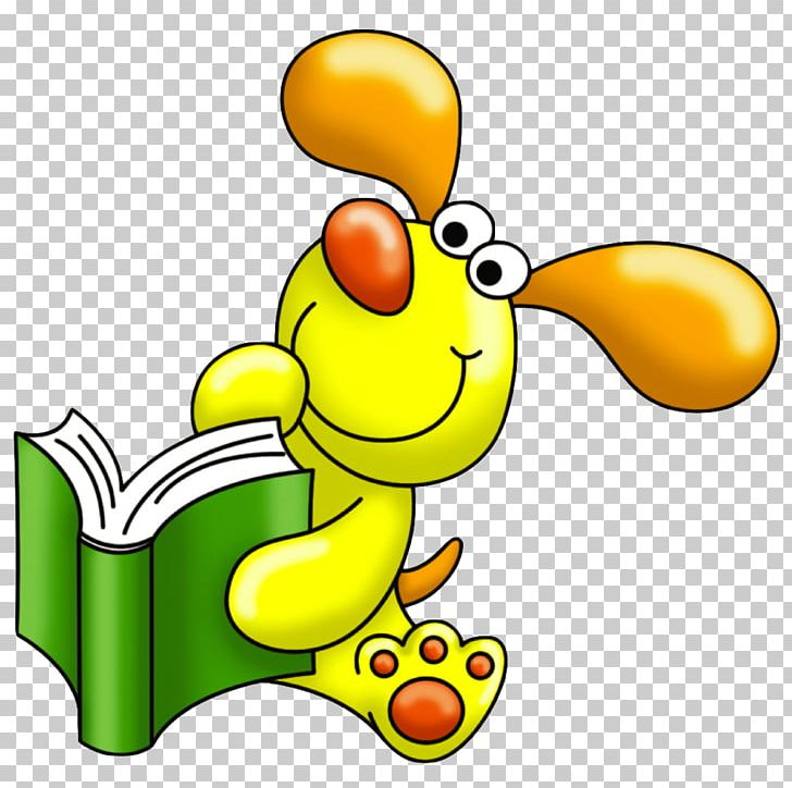 Book Dog Reading PNG, Clipart, Animal, Artwork, Beak, Book.