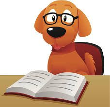 Image result for dog reading book clipart.