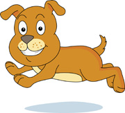 Animated running dog clip art.