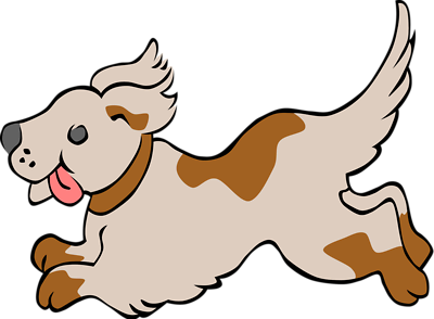 Free clipart dog running.