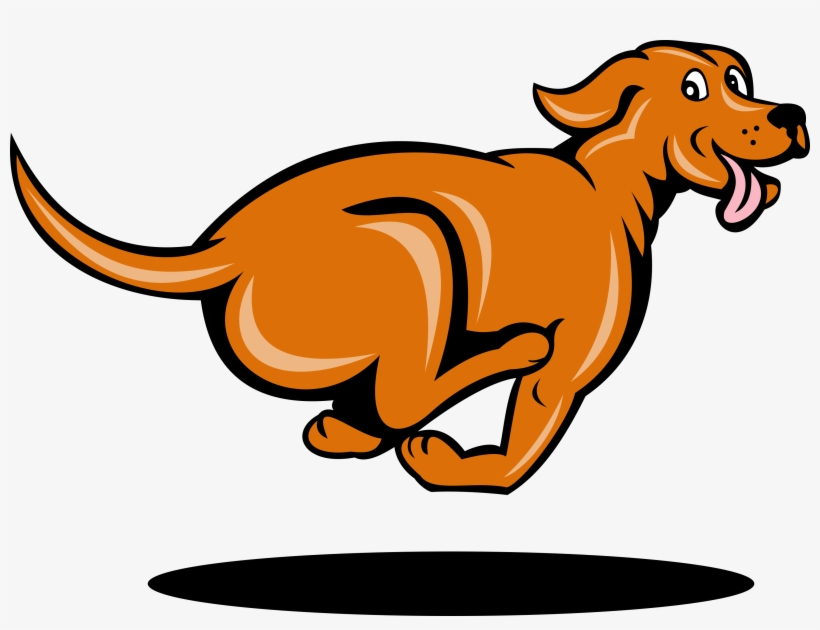 28 Collection Of Dog Running Away Clipart.