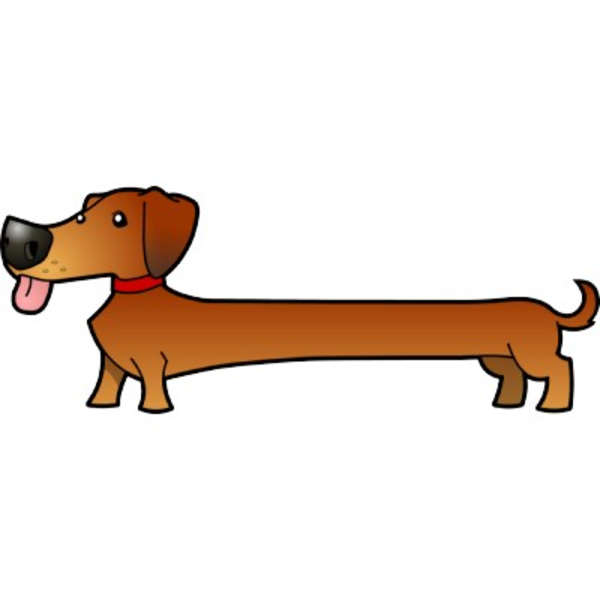 Sausage dog clipart.