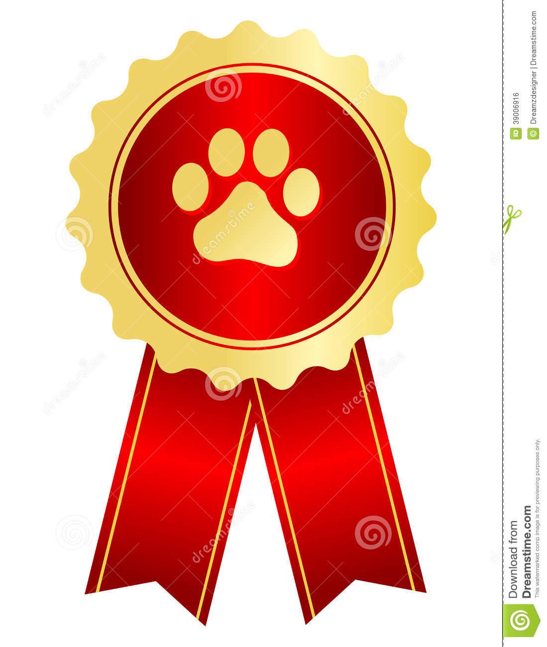 Dog Show Ribbon Clipart.