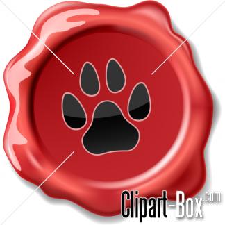 CLIPART DOG SEAL WAX.