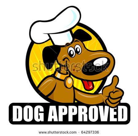Funny Seal Of A Cooker Dog Approving. Ideal For Supporting.