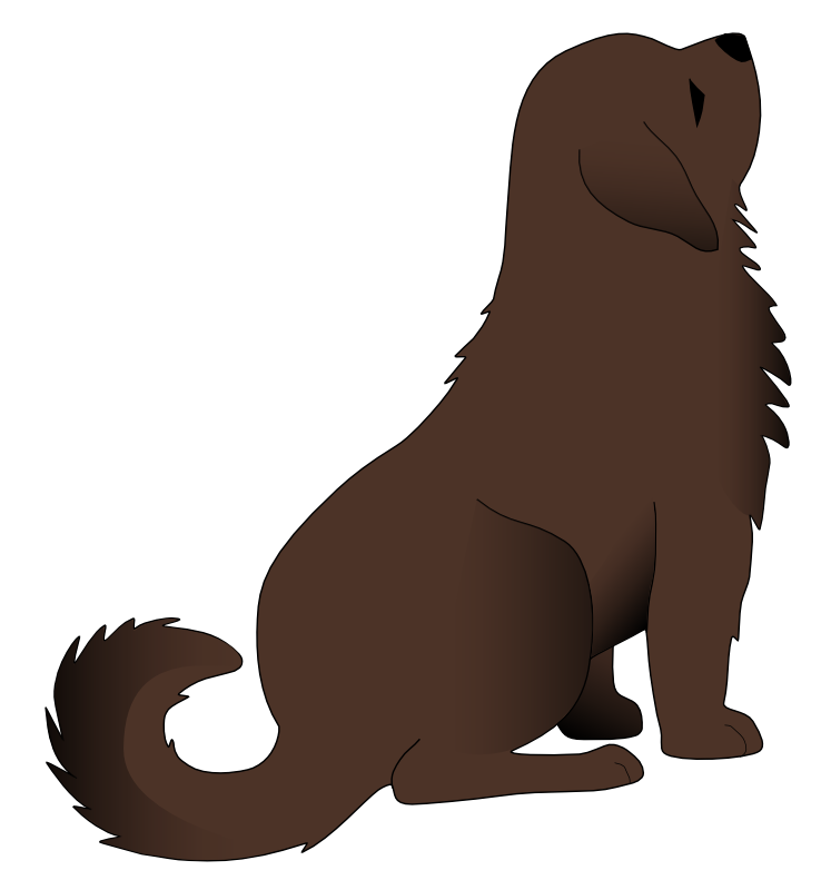 Animals sit on the street clipart #1
