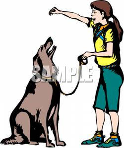 Animal trainer seal clipart.