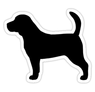 Beagle clipart dog shadow, Beagle dog shadow Transparent.
