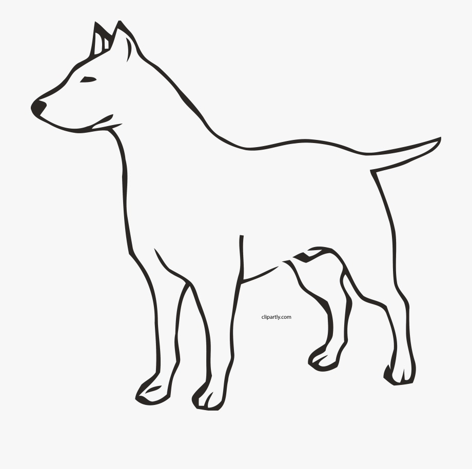 Dog Outline Clipart Png.