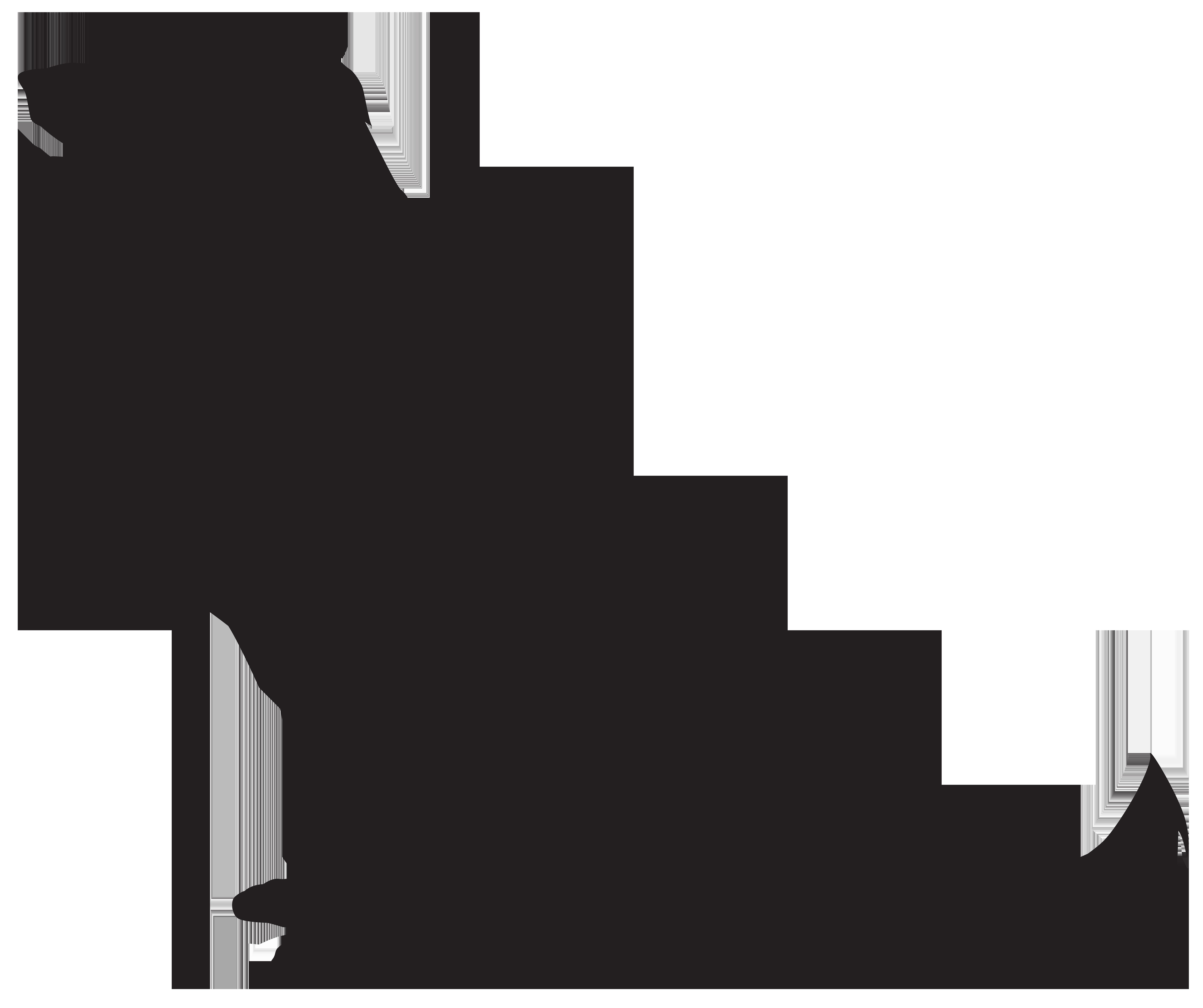 Free Dog Silhouette Clip Art.