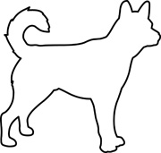 White Dog Silhouette at GetDrawings.com.