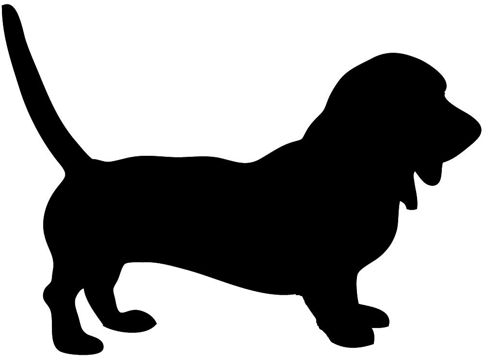 This page Dog Silhouette has lots of black and white.