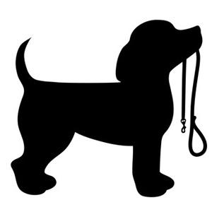 Beagle Puppy Dog Silhouette.