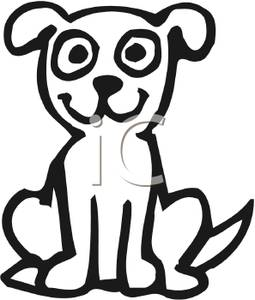 Clipart Dog Sitting Down.