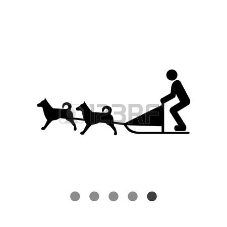 654 Dog Sled Stock Vector Illustration And Royalty Free Dog Sled.