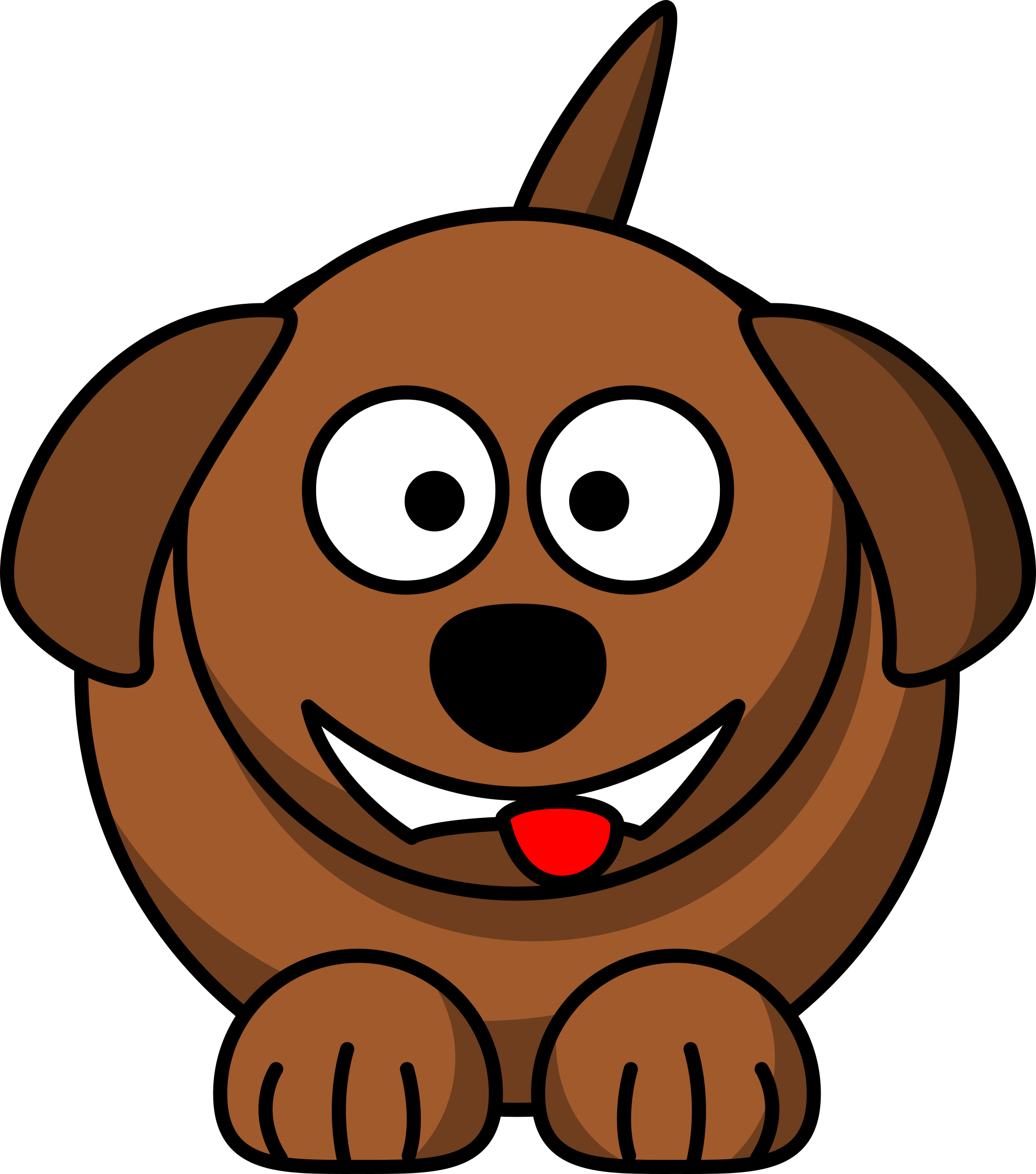 Smiling Dog Clipart.