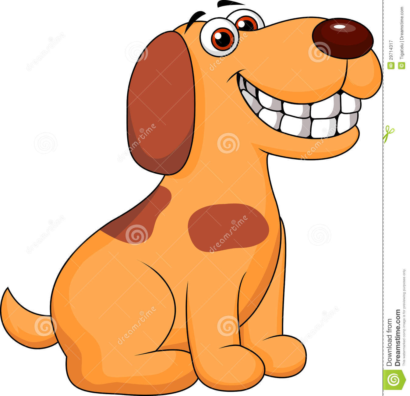 Dog smiling clipart.