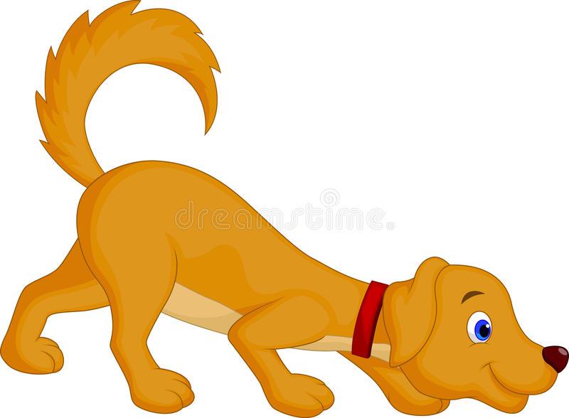 Dog Sniffing Stock Illustrations.