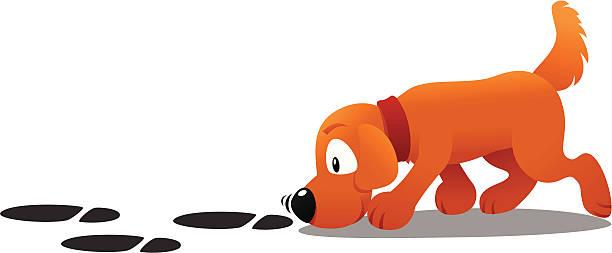 Best Dog Sniffing Illustrations, Royalty.