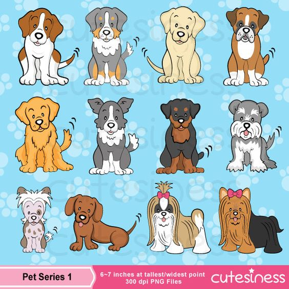 Dog Digital Clipart, Dog Clipart, Puppy Clipart, Puppy Dog Clipart.