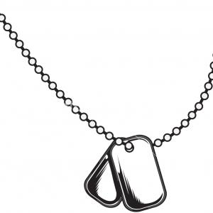 211 Dog Tag free clipart.
