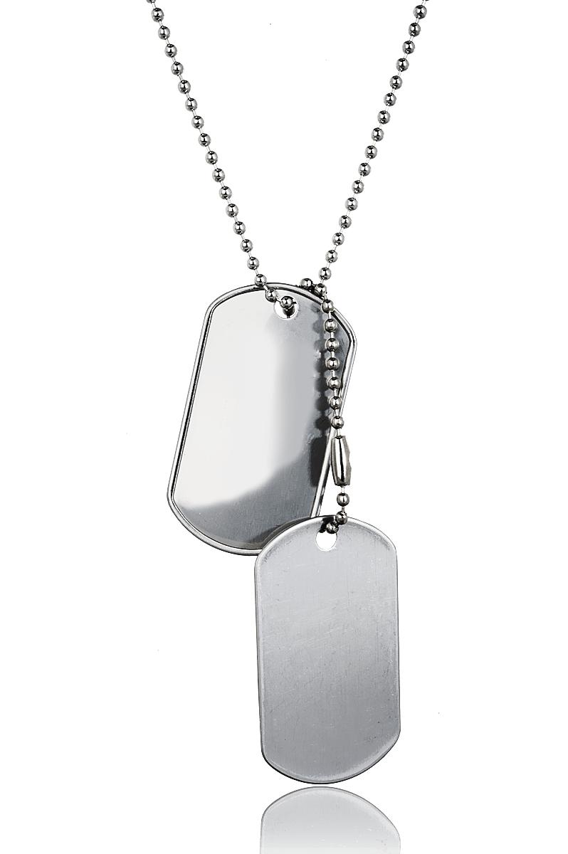 Locket Necklace Dog tag Military Soldier.