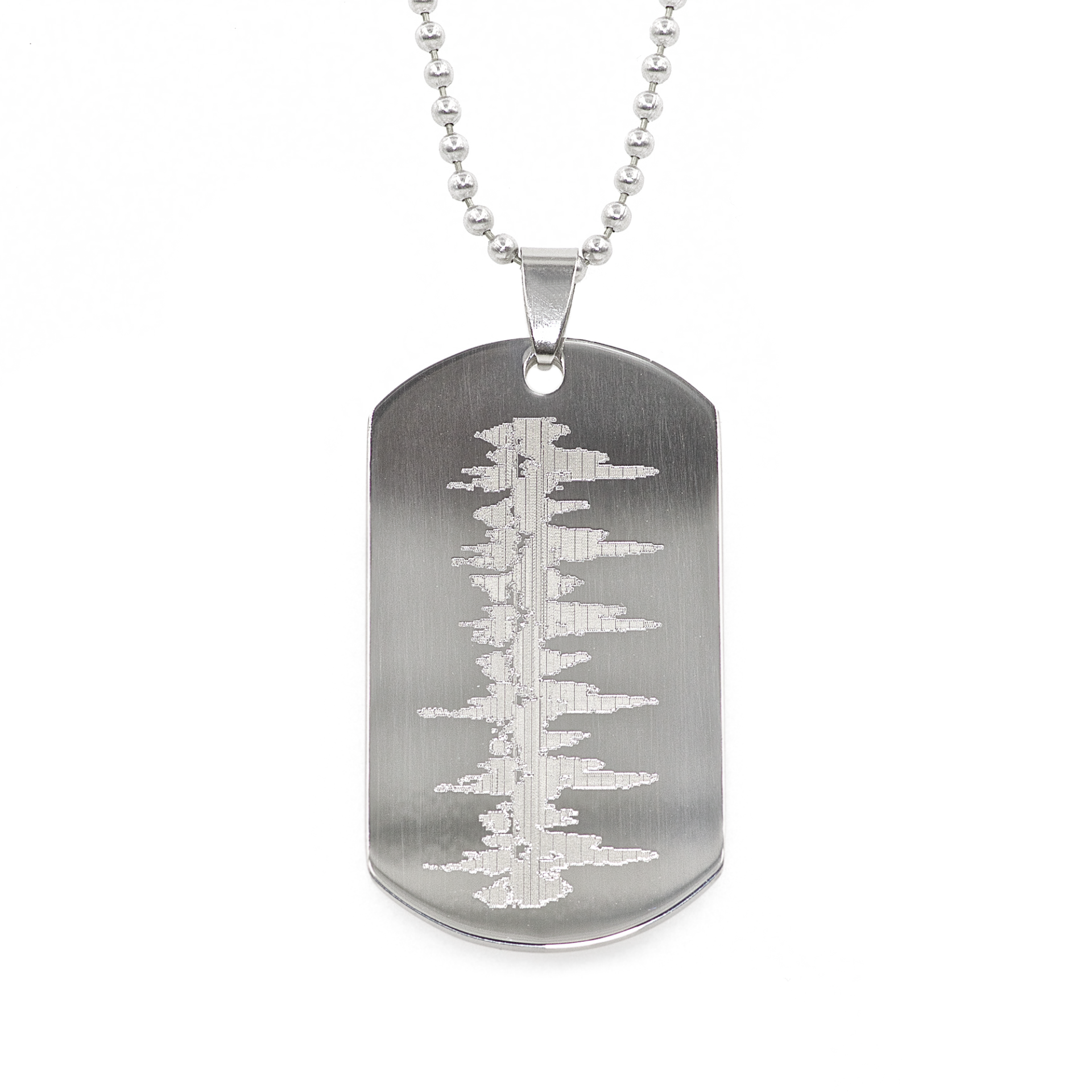Heartbeat Dog Tag.
