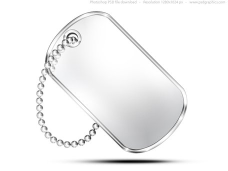 Free Military dog tag, PSD icon Clipart and Vector Graphics.