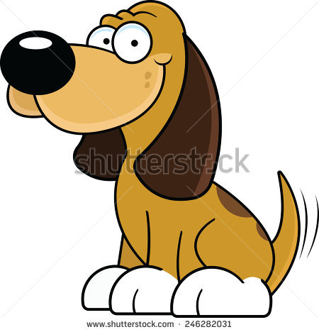 Dog wagging tail clipart.