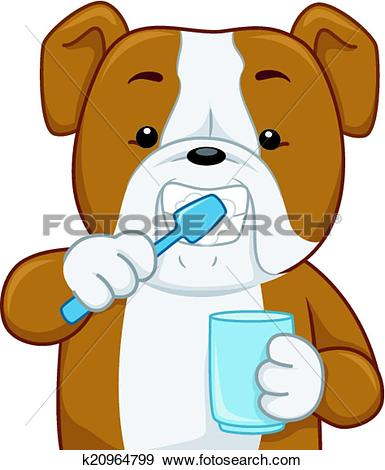 Clipart of Dog Toothbrush k19766271.