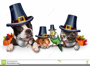 Cute Pet Thanksgiving Clipart.