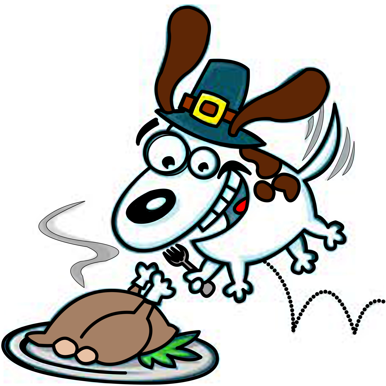Thanksgiving Dog Clipart.