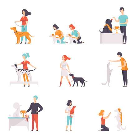 670 Dog Trainer Stock Vector Illustration And Royalty Free Dog.