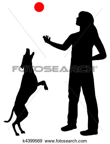Stock Illustrations of Puppy Dog Illustration Silhouette k2723590.
