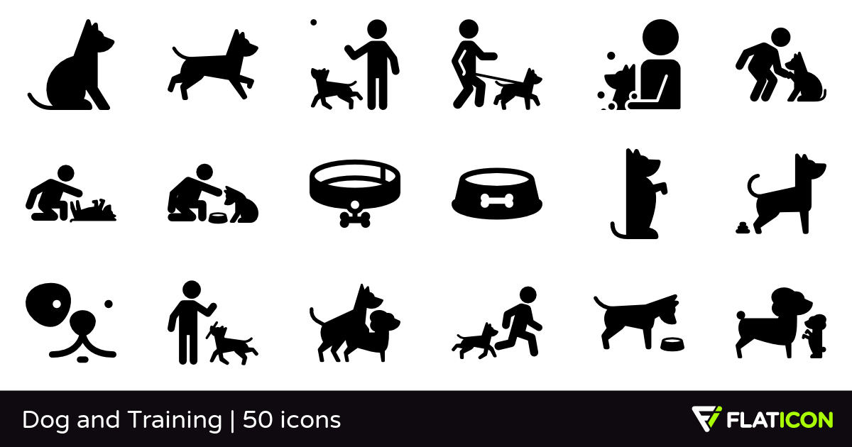 Dog and Training 50 free icons (SVG, EPS, PSD, PNG files).