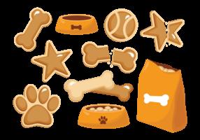 Dog Biscuit Free Vector Art.
