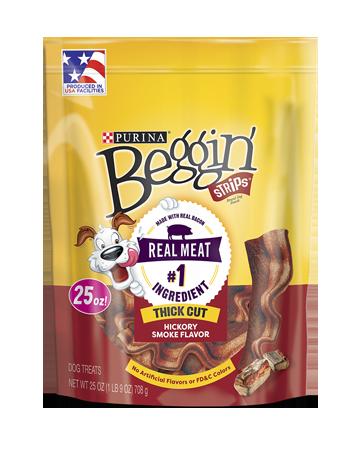 Beggin' Strips Hickory Smoked Dog Treats.
