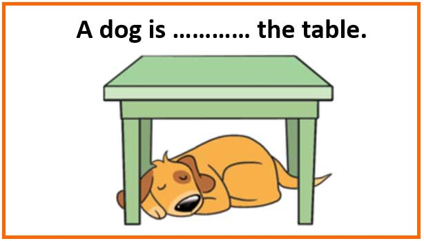 Clipart Dog Under The Table.