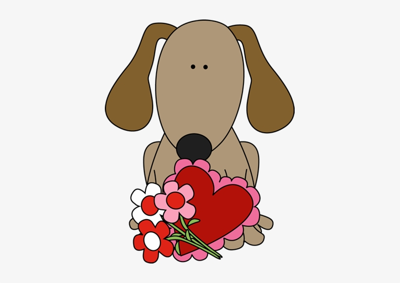 Valentine's Day Dog Clip Art.