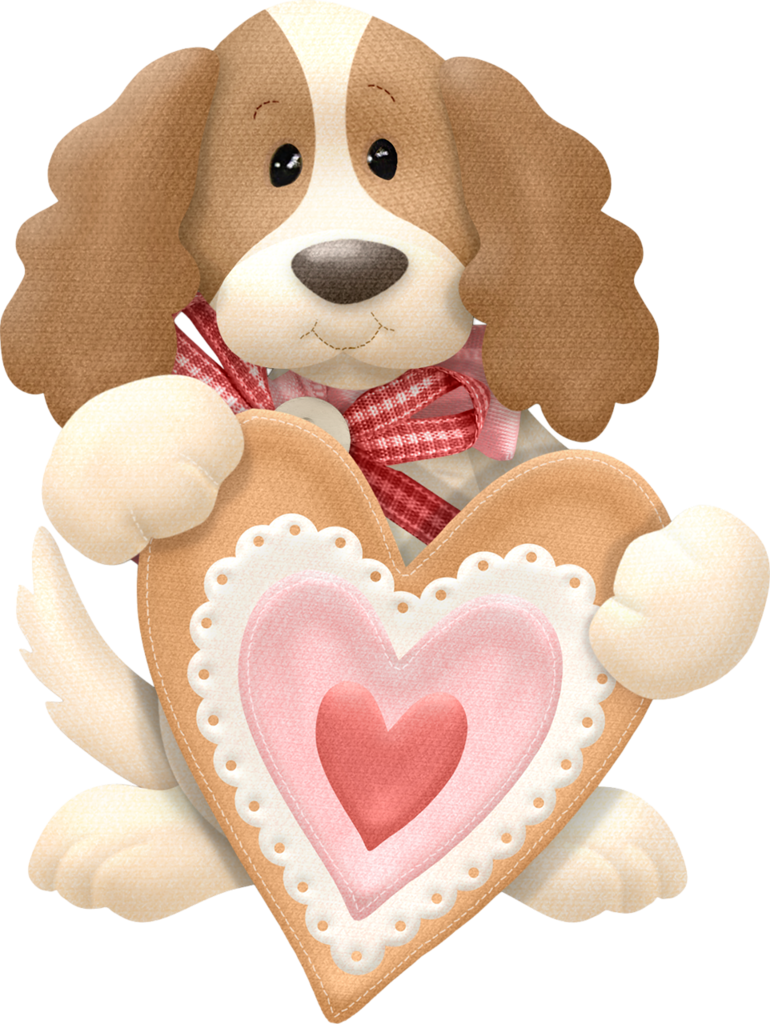 PUPPY WITH HEART CLIP ART.