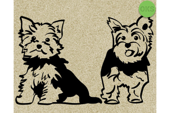 Yorkshire Terrier Svg Dog Vector Clipart.