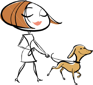 Walking your dog clipart.