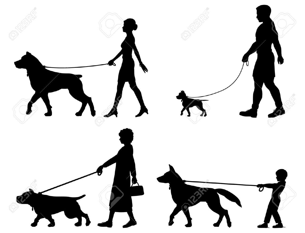 4,653 Dog Walking Cliparts, Stock Vector And Royalty Free Dog.