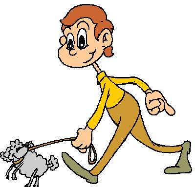 Walk the dog clipart.