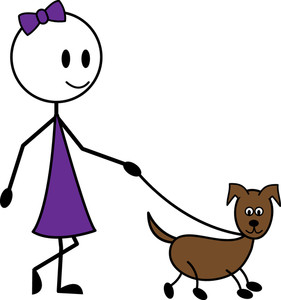 Walking dog clip art.