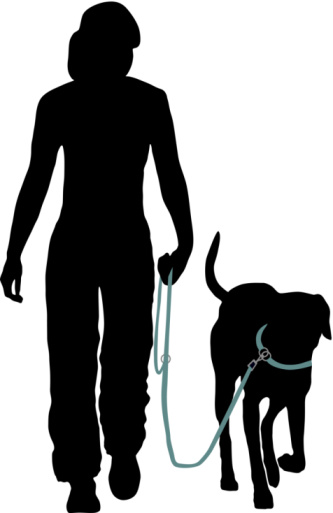 Free dog walking clipart.